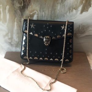 Bvlgari Black Gold Star Serpenti Forever Chain Bag